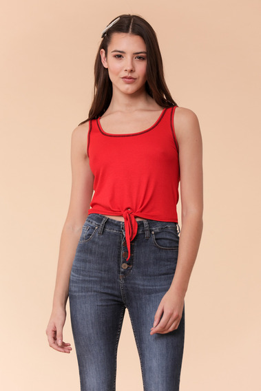Musculosa Mujer Alma Rojo Delaostia