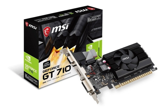Msi Geforce Gt710 2gb Ddr3 Gt 710 Low Profile Hdmi Concooler
