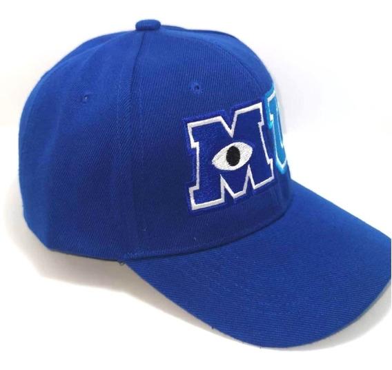 Gorra Mu Monsters University Azul Para Adultos Sulley Mike