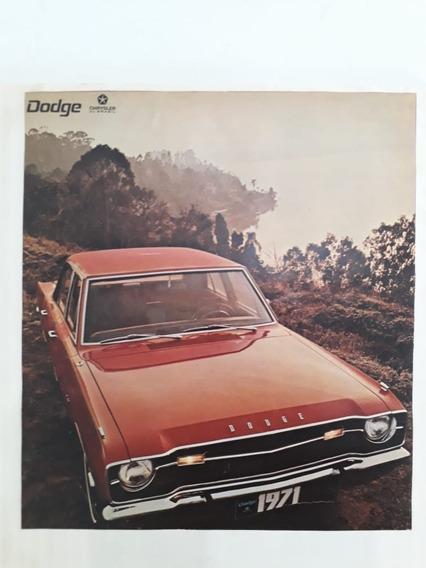 Propaganda Antigo Dodge 1971 Raro Chrysler Coleção Publicid