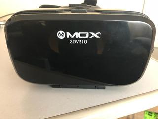 Óculos 3d E Vr Com Fones De Ouvido Mox 3dvr10 + Controle