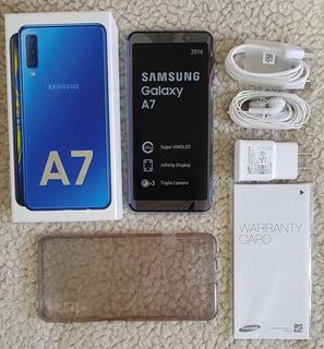 Galaxy A7 2018 1 Mes De Uso Factura Garantía Libre. Permuto.