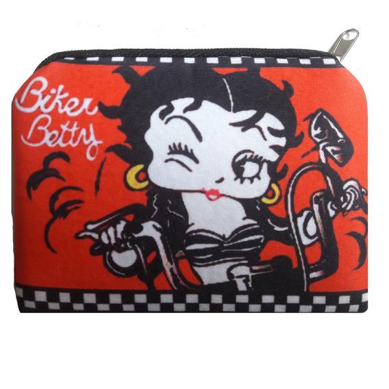 Monedero De Neoprene Estampado Biker Betty Boop
