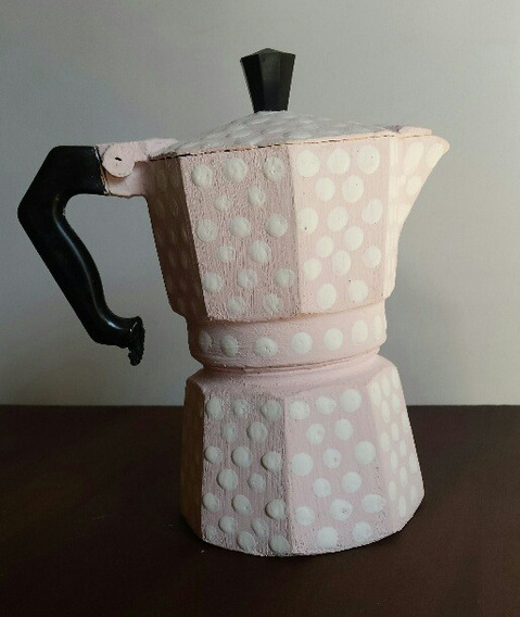 Cafetera Mini Volturno Intervenida Retro -vintage Decoración