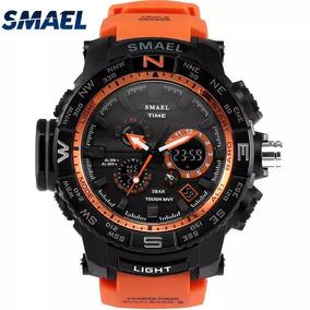 Relógio Smael S-shock Laranja A Prova D
