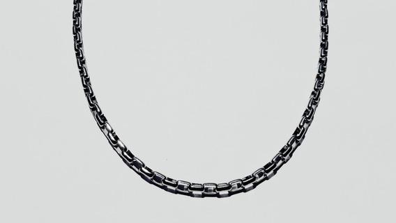 Corrente Masculina Cartier Quadrada De Aço Inox Antialérgico