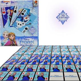 Mini Baralho Jogo De 56 Cartas Frozen Brinquedo Educativo