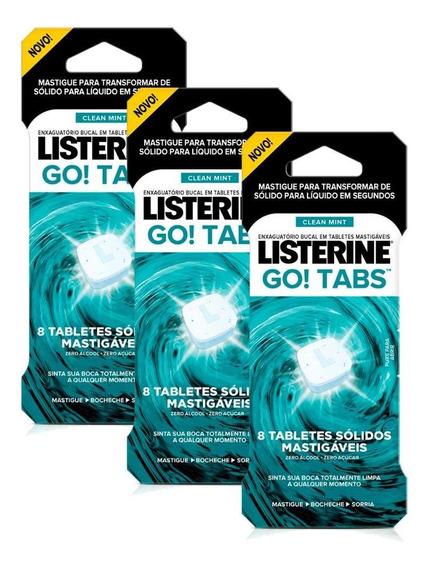 Listerine Go! Tabs 24 Unidades Cx/8