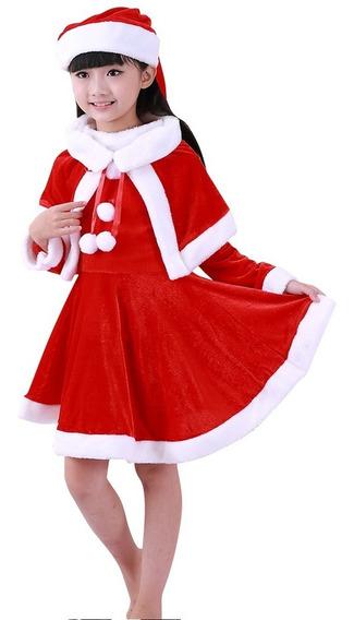 Disfraz De Santa Claus Festival Navideño Pastorelas Niña