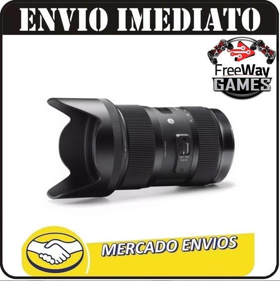 Lente Sigma Art 18-35mm F/1.8 Dc Hsm Para Nikon + Nfe