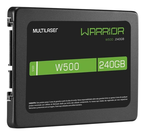 Ssd Gamer 2,5 240gb W500 Gravação 500 Mb/s Warrior Ss210