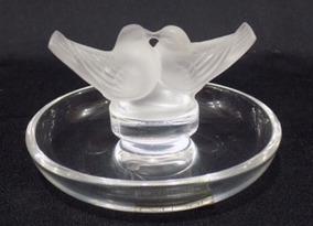Escultura Rene Lalique Porta Aneis Cristal Assinado Munddibr