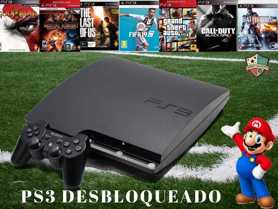 Ps3 Playstation 3 Desbloqueado+destravado +10 Super Brindes