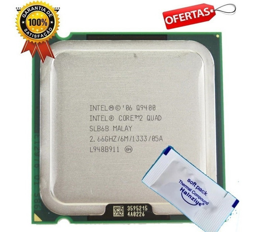 Intel 775 Core 2 Quad Q9400 2,66ghz + Pasta Térmica