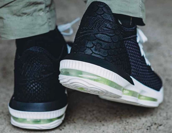 Tênis Nike Lebron 16 Low Black Python