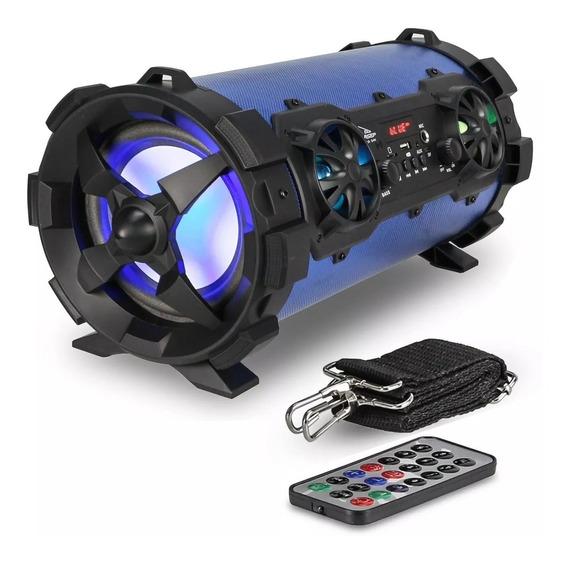 Caixa Som Portátil Bluetooth Canhão Fm Mp3 Amplificada 4vias
