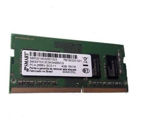 Imagem 1 de 1 de Memória Notebook Smart 4gb Ddr4-2666v Sms4tdc3c0k0446scg