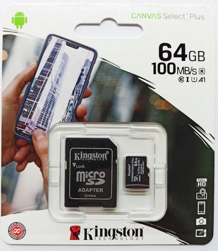 Microsd Kingston 64 Gb 100% Genuina Clase 10 100mb/s