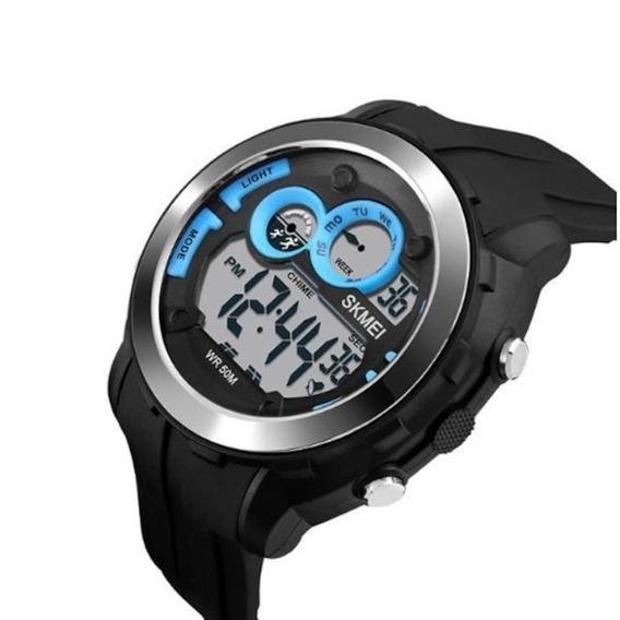 Relógio Masculino Skmei 1234 Digital Azul - Prova D