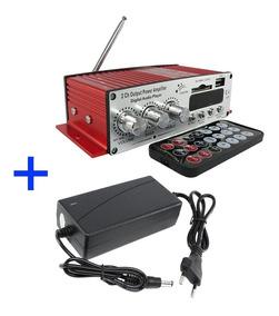 Mini Modulo Amplificador Kinter Ma-120 Fonte Bi Usb Radio Fm