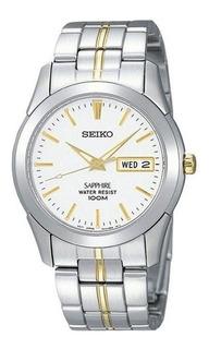 Reloj Seiko Sgg719 Hombre Acero Dorado Sumergible Analogo