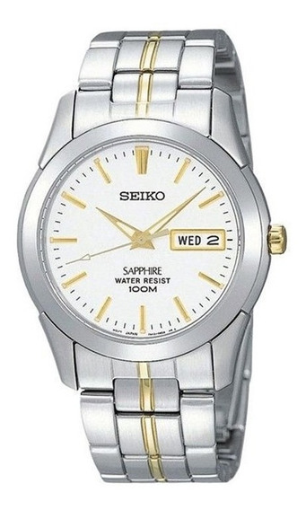 Reloj Seiko Sgg719 De Dama Zafiro Calendario 100m Quartz