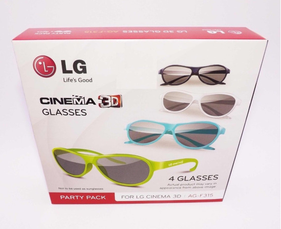 Oculos Lg 3d Original Ag-f315 Kit 4 Oculos Cinema