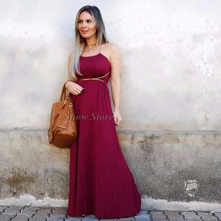 Roupa Para Gestante Vestido Longo Gravida Visco Luxo 2703