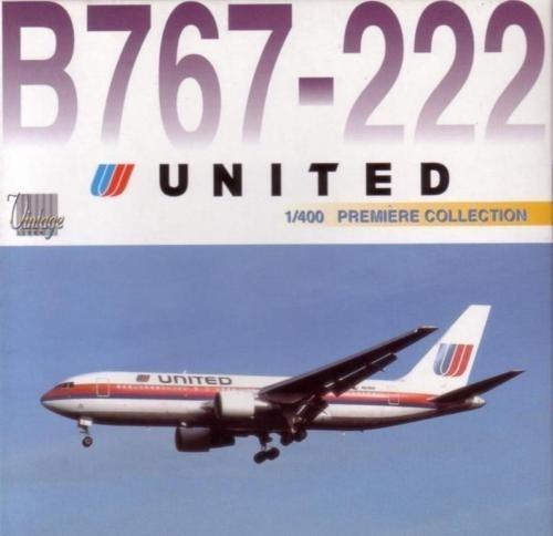 Maquete/miniatura Avião Boeing 767-200 United Airlines 1:400