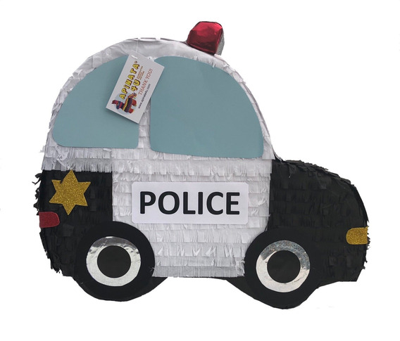 Apinata4u 2 D Flat Police Car Pinata