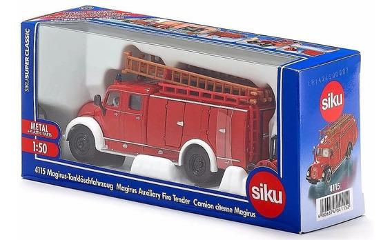Camion Auxiliar De Bomberos Magirus Deutz - Siku 4115 - 1:50