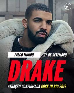 Ingresso Rock In Rio 2019 - Drake - 27/09 - Inteira - R$649