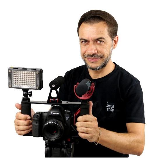 Cage Gaiola Cameras Dslr Filmadoras + Suporte P/ Celular