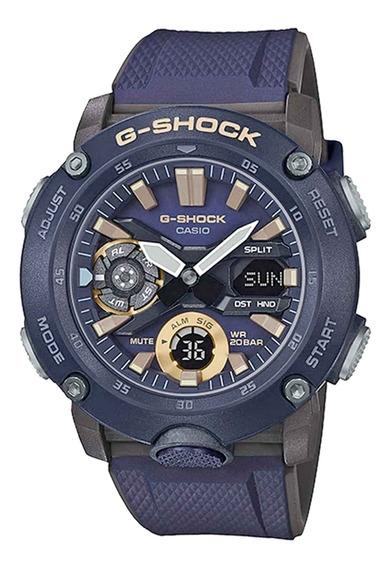 Relógio Casio Masculino Ga-2000-2adr Azul - Refinado