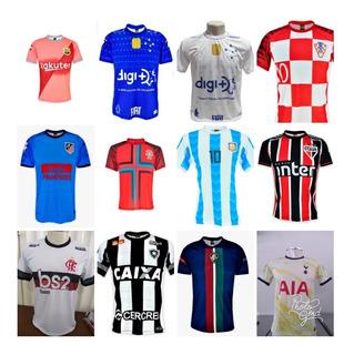 Kit Duas Camisas De Times Europeus E Brasileiros.