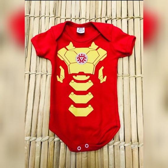 Roupa Para Bebê Menino Homem De Ferro Body Temático