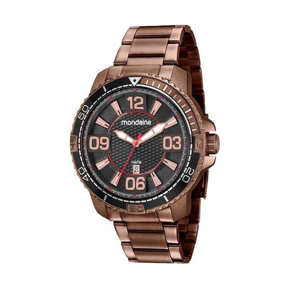 Relógio Masculino Mondaine Marrom