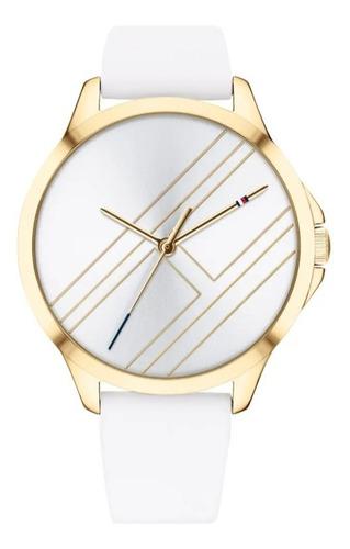 Relógio Tommy Hilfiger Feminino Aço Dourado Pulseira Branca