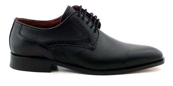 Zapato Cuero Hombre Vestir Zapatos Negro Briganti Hcac00799