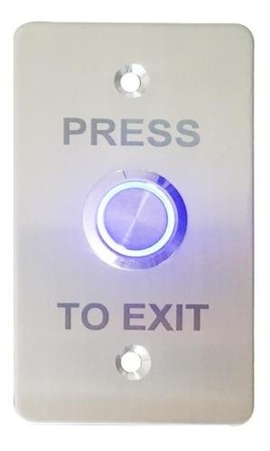 Botón Pulsador Acero Con Led Control De Acceso