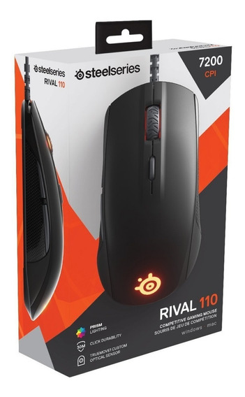 Mouse Gamer Steelseries Rival 110 Rgb 7.200 Dpi