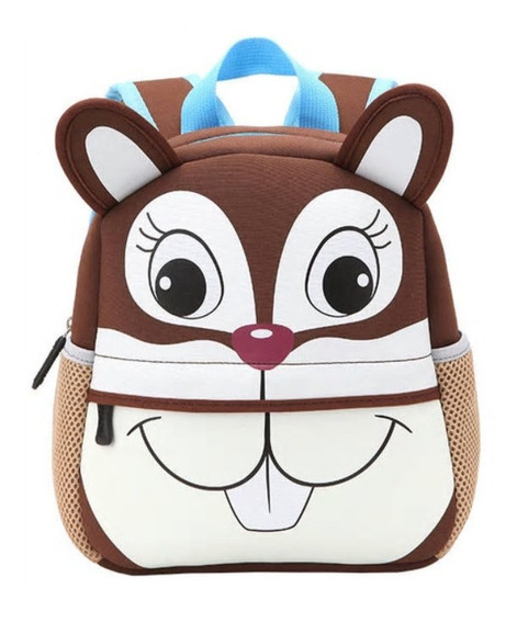 Bolsa Mochila Escolar Bebê Infantil Animais Animal 3d Safari