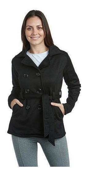 Abrigo Negro Marca Sahara Para Mujer Pr-3205552