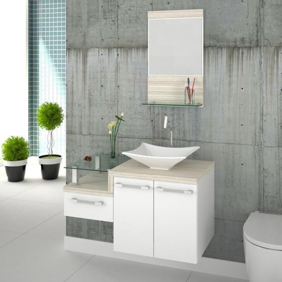 Gabinete Armário P/banheiro C/cuba L38+espelheira Legno 831*