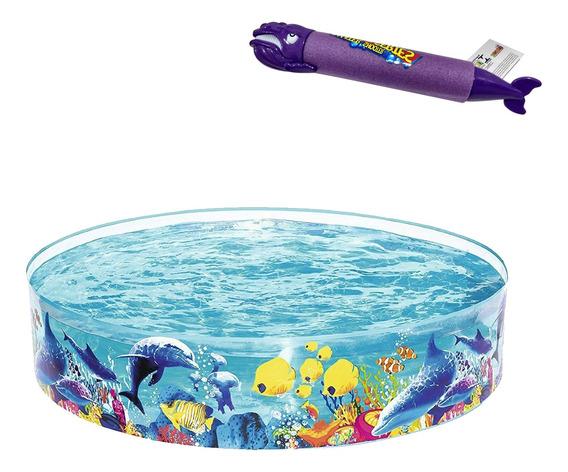 Piscina Infantil 946 Litros Bestway Semi Rígida + Lança Água