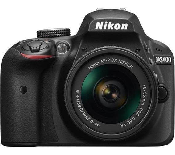Câmera Nikon D3400 Com 18-55mm F/3.5-5.6g Vr