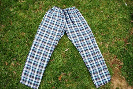 Pantalón Pijama Unisex 100% Algodón Cuadrillé Tela Oxford