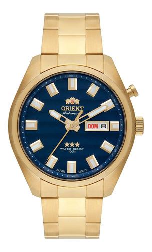 Relógio Orient 469gp076 D1kx Automatic Masc Azul- Refinado