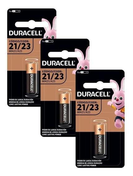 Kit Com 3 Pilhas Duracell Alcalina 12v A23