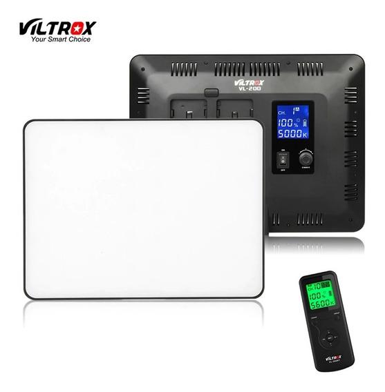 Iluminador Led Viltrox Vl-200/t C/ Controle
